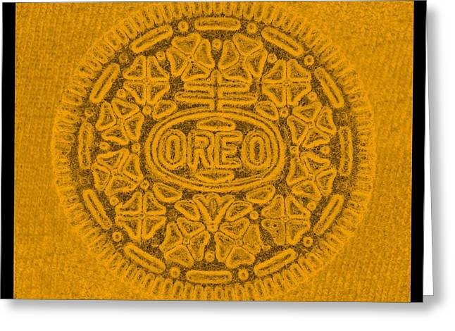 Oreo Greeting Cards - OREO in ORANGE Greeting Card by Rob Hans