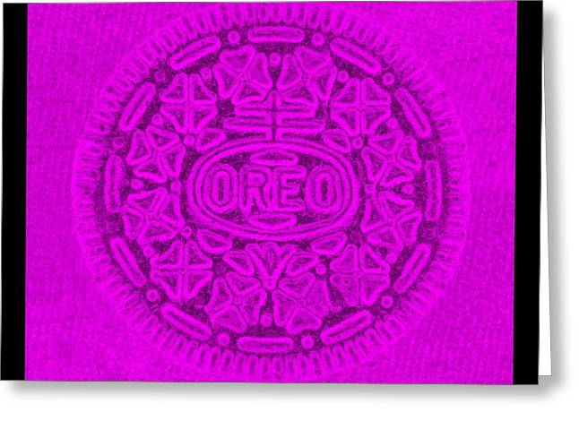 Oreo Greeting Cards - OREO in PURPLE Greeting Card by Rob Hans