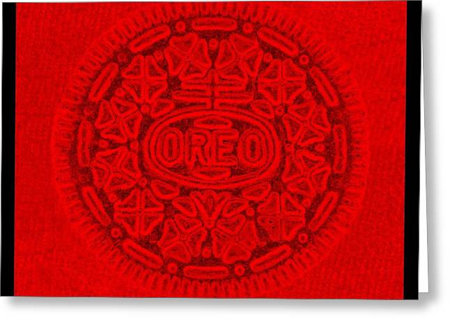 Oreo Greeting Cards - OREO in RED Greeting Card by Rob Hans