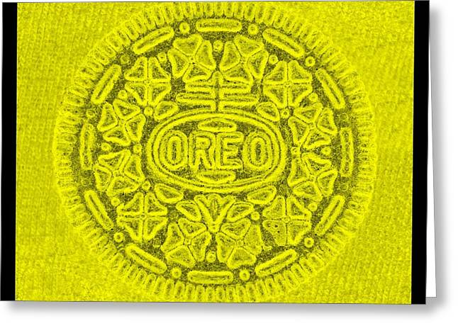 Oreo Greeting Cards - OREO in YELLOW Greeting Card by Rob Hans