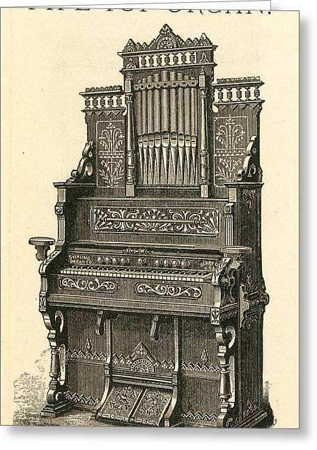 1880s Photographs Greeting Cards - ORGAN, c1880 Greeting Card by Granger