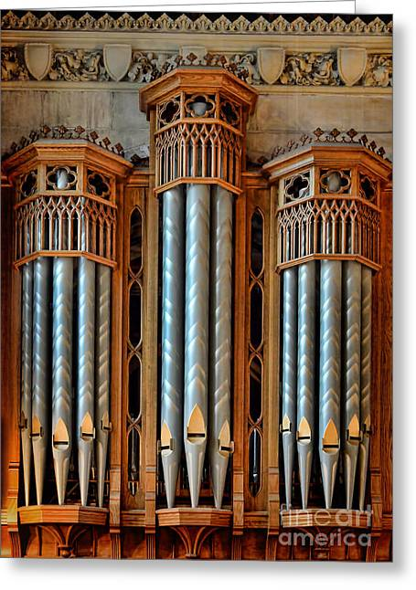 Pipe Organ Greeting Cards - Organ Pipes Greeting Card by Jill Battaglia