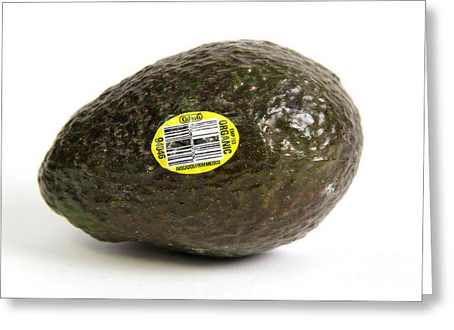 Conscious Greeting Cards - Organic Avocado Greeting Card by Photo Researchers