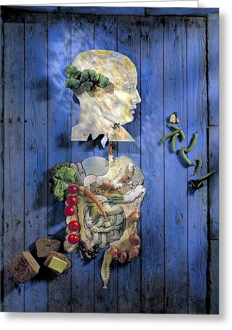 Broccoli Greeting Cards - Organic Food, Conceptual Image Greeting Card by Paul Biddle