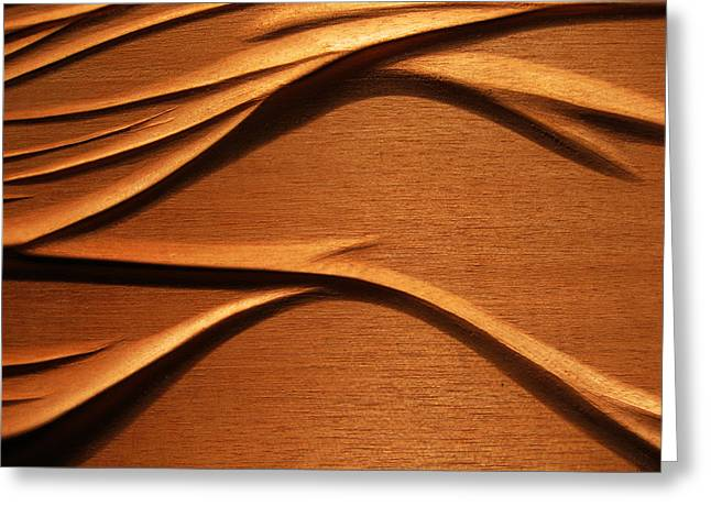 Organic Mahogany Shadows Greeting Card by Charles Dancik