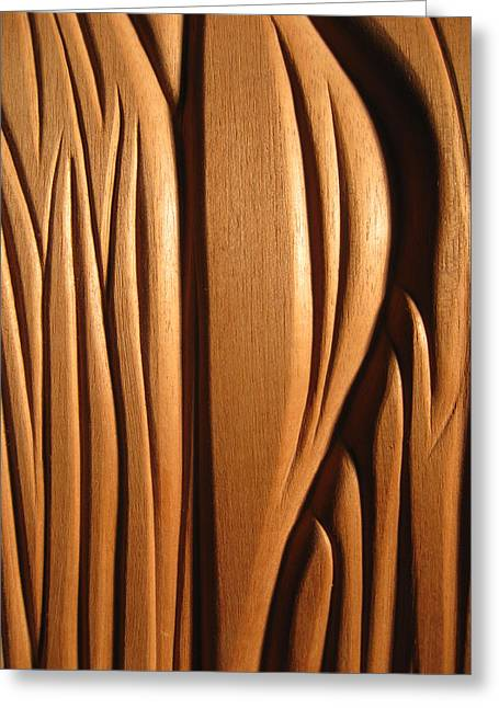 Mahogany Reliefs Greeting Cards - Organic Mahogany Shapes Greeting Card by Charles Dancik