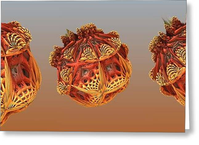 Recently Sold -  - Fractal Orbs Greeting Cards - Organic Orbs Greeting Card by Ron Bissett