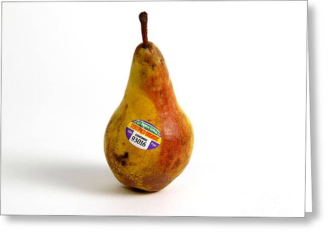 Conscious Greeting Cards - Organic Pear Greeting Card by Photo Researchers