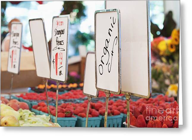 Organically Greeting Cards - Organic Produce on Display Greeting Card by Jetta Productions, Inc