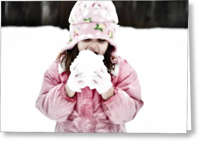 Snow Capped Greeting Cards - Organic Snow Cone Greeting Card by Gwyn Newcombe