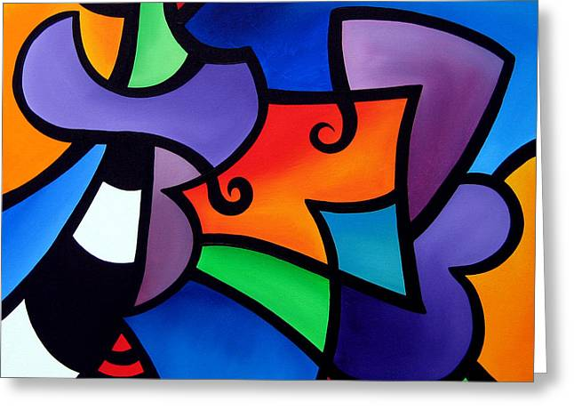 Fidostudio Greeting Cards - Organized - Abstract Pop Art by Fidostudio Greeting Card by Tom Fedro - Fidostudio