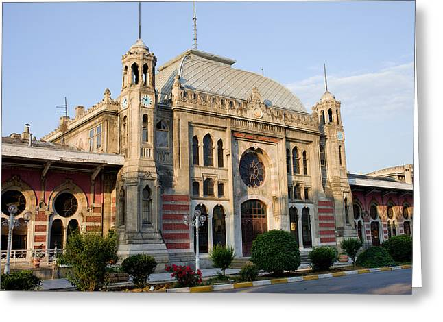 Express Greeting Cards - Orient Express Station in Istanbul Greeting Card by Artur Bogacki