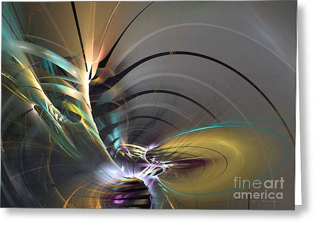 Algorithmic Abstract Greeting Cards - Oriental mood Greeting Card by Sipo Liimatainen