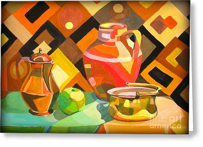 Chatty Greeting Cards - Oriental Still Life Greeting Card by Tatjana Andre