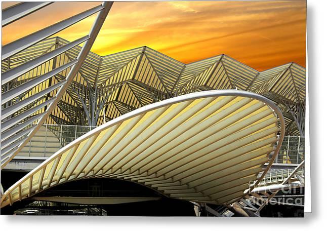Oriente Station Greeting Card by Carlos Caetano