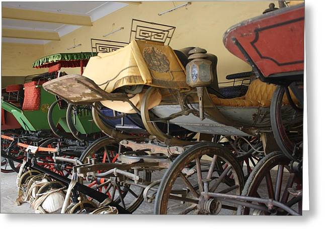 Ilendra Vyas Greeting Cards - Original Ancient Vintage Wagon Greeting Card by ilendra Vyas
