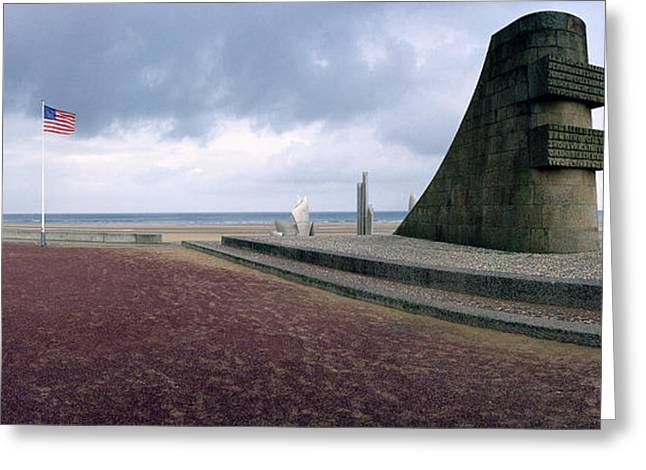 Ru Greeting Cards - Original D-Day Monument Greeting Card by Jan Faul