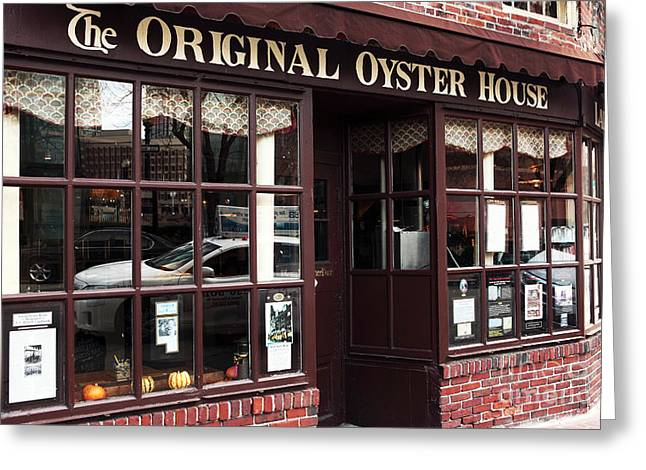 Americana Pictures Greeting Cards - Original Oyster House Greeting Card by John Rizzuto