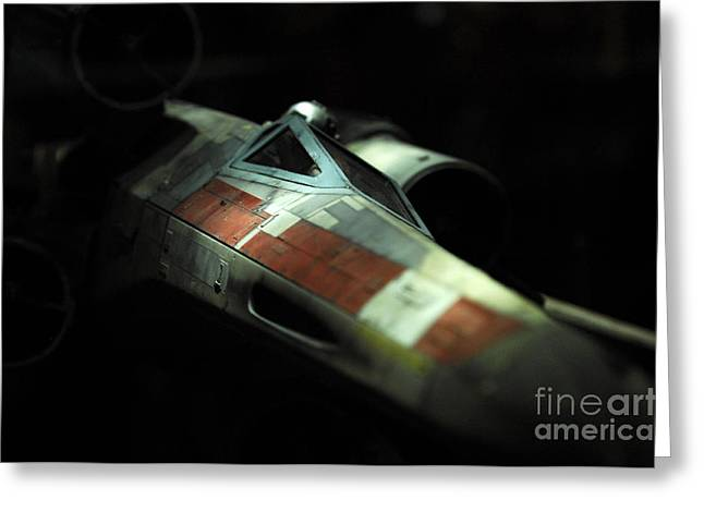 Original X-Wing Greeting Card by Micah May