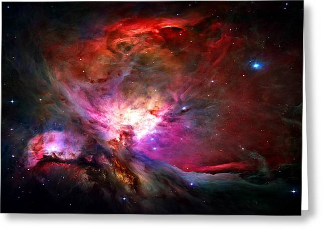 Star Digital Art Greeting Cards - Orion Nebula Greeting Card by Michael Tompsett
