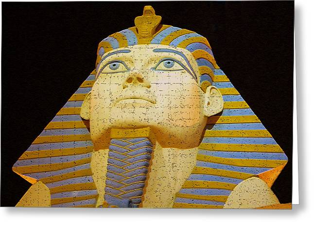 Pharaoh Digital Art Greeting Cards - Orions stare Greeting Card by David Lee Thompson