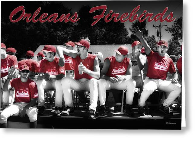 Cod Digital Art Greeting Cards - Orleans Firebirds Baseball Team Greeting Card by Dapixara Art