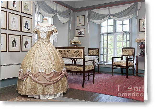 Evening Dress Greeting Cards - Ornate Dress and Classic Fashion Designs Greeting Card by Jaak Nilson