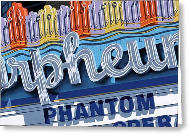 Theater Greeting Cards - Orpheum Theater Greeting Card by Anthony Ross