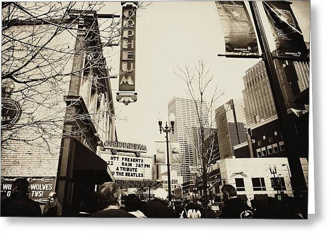 Theatre District Greeting Cards - Orpheum Theatre Greeting Card by Susan Stone
