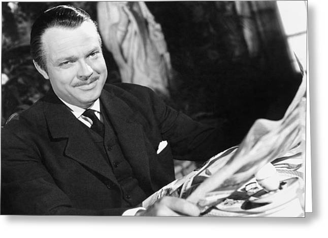 Citizens Greeting Cards - Orson Welles: Citizen Kane Greeting Card by Granger