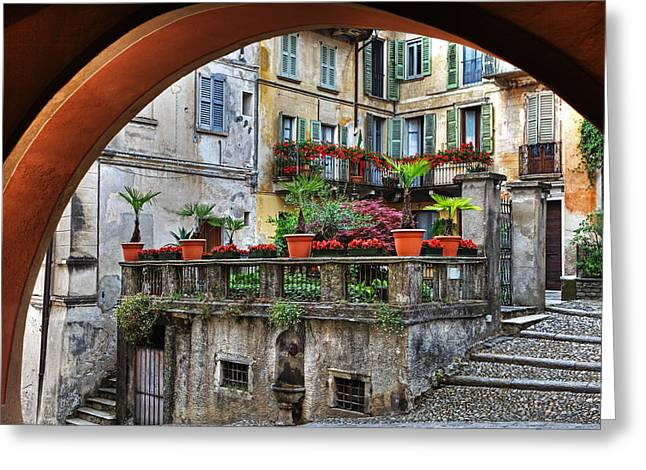 Piedmont Greeting Cards - Orta San Giulio in Italy Greeting Card by Joana Kruse