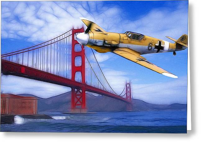 Military Airplanes Greeting Cards - Orwells 1944 Greeting Card by Stefan Kuhn