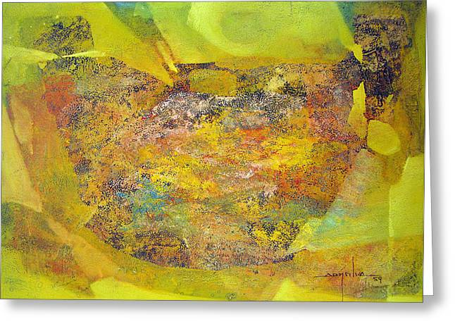 Origional Greeting Cards - OS1959BO002 Abstract Landscape Potosi 22.5x17 Greeting Card by Alfredo Da Silva