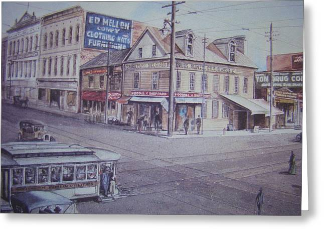 Charlotte Paintings Greeting Cards - Osborne Corner Greeting Card by Charles Roy Smith