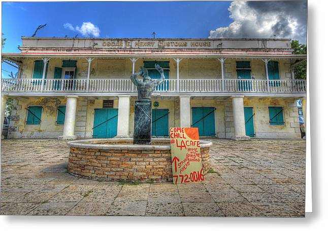 Oscar E. Henry Customs House Greeting Card by Shelley Neff