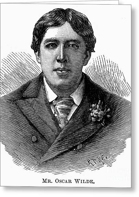 Lapel Greeting Cards - Oscar Wilde (1854-1900) Greeting Card by Granger