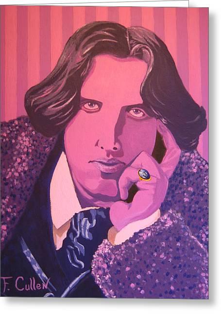 Oscar Wilde Paintings Greeting Cards - Oscar Wilde Greeting Card by Frank Cullen
