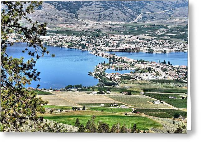 North Fork Digital Greeting Cards - Osoyoos Lake Crossing Greeting Card by Don Mann