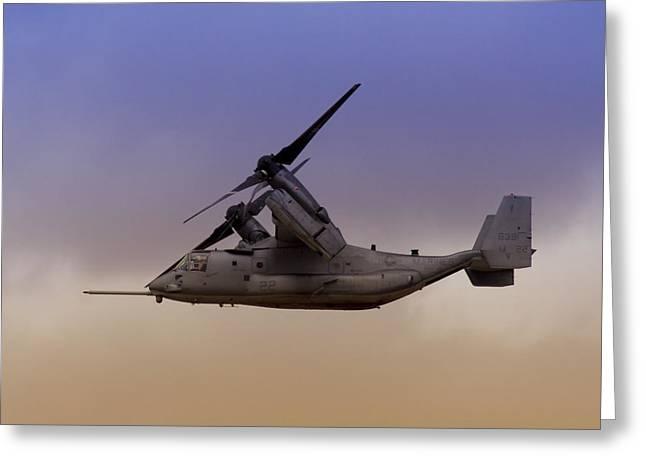 Advancing Greeting Cards - Osprey In Flight III Greeting Card by Ricky Barnard