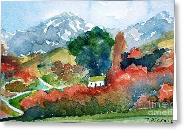 Farm Greeting Cards - Otago in Autumn Greeting Card by Therese Alcorn