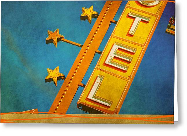 Motel Mixed Media Greeting Cards - Otel Greeting Card by Brian Helder