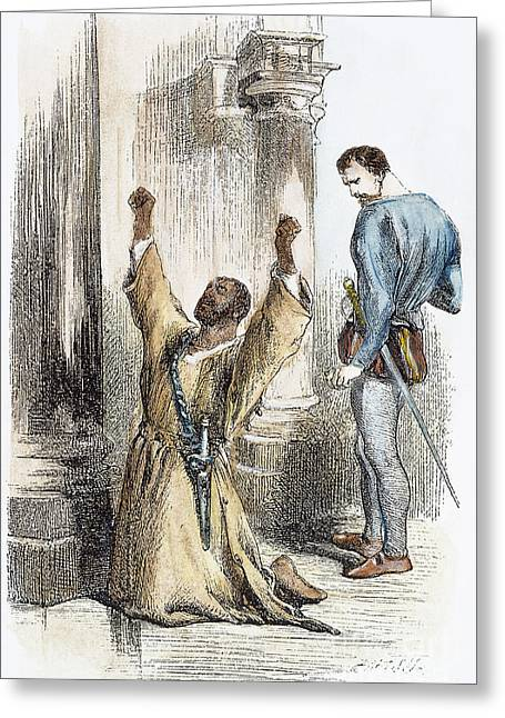 Othello Greeting Cards - OTHELLO, 19th CENTURY Greeting Card by Granger