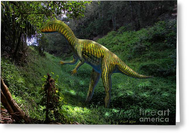 Dinosaurs Greeting Cards - Othniela in Jungle Greeting Card by Frank Wilson