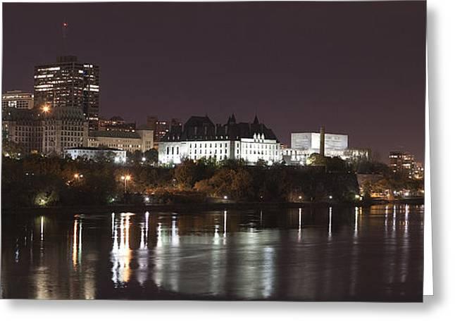 Ottawa Skyline Greeting Cards - Ottawa Skyline Greeting Card by Eunice Gibb