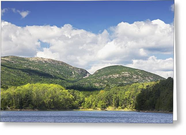 Maine Shore Greeting Cards - Otter Cove And mountains Acadia National Park Greeting Card by Keith Webber Jr