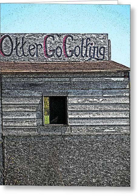 Cartton Greeting Cards - Otter Go Golfing Greeting Card by Cyryn Fyrcyd