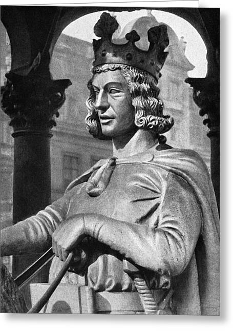 Statue Portrait Photographs Greeting Cards - Otto I (912-973) Greeting Card by Granger