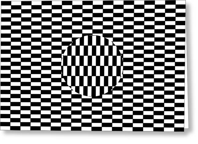 Ouchi Illusion Greeting Cards - Ouchi Illusion Greeting Card by