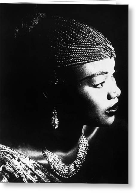 1990s Greeting Cards - Oumou Sangarare (1968- ) Greeting Card by Granger