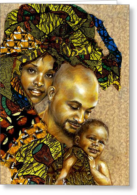 African-american Mixed Media Greeting Cards - Our Children Greeting Card by Gary Williams